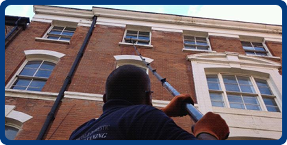 extended pole hotwash window cleaning nottingham
